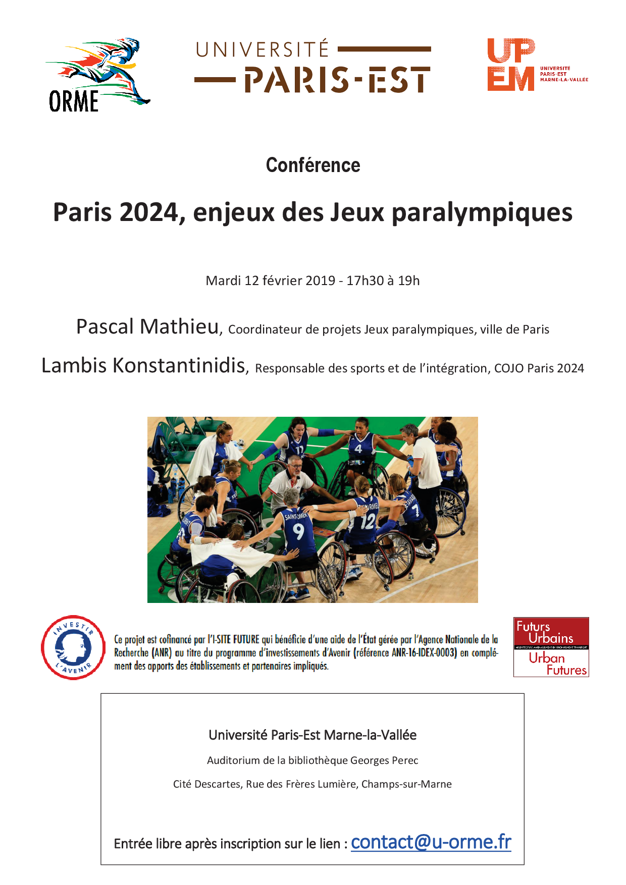 confrence fv paralympiques